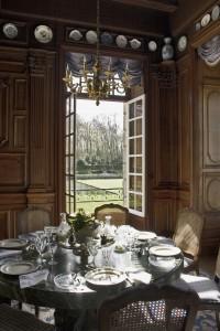 La salle à manger du château de Courances