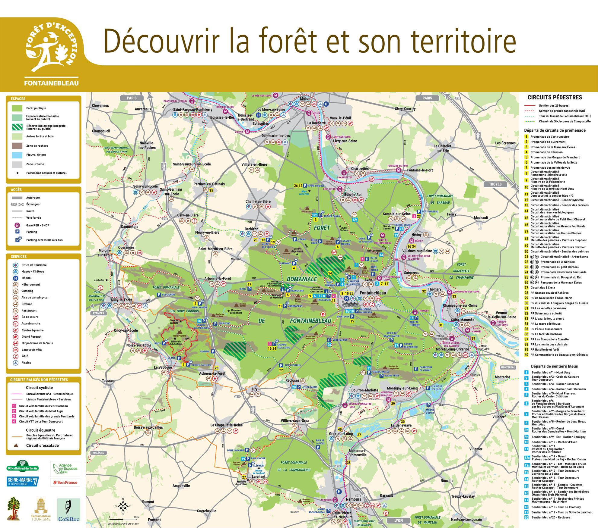 Carte de l'ensemble de la forêt