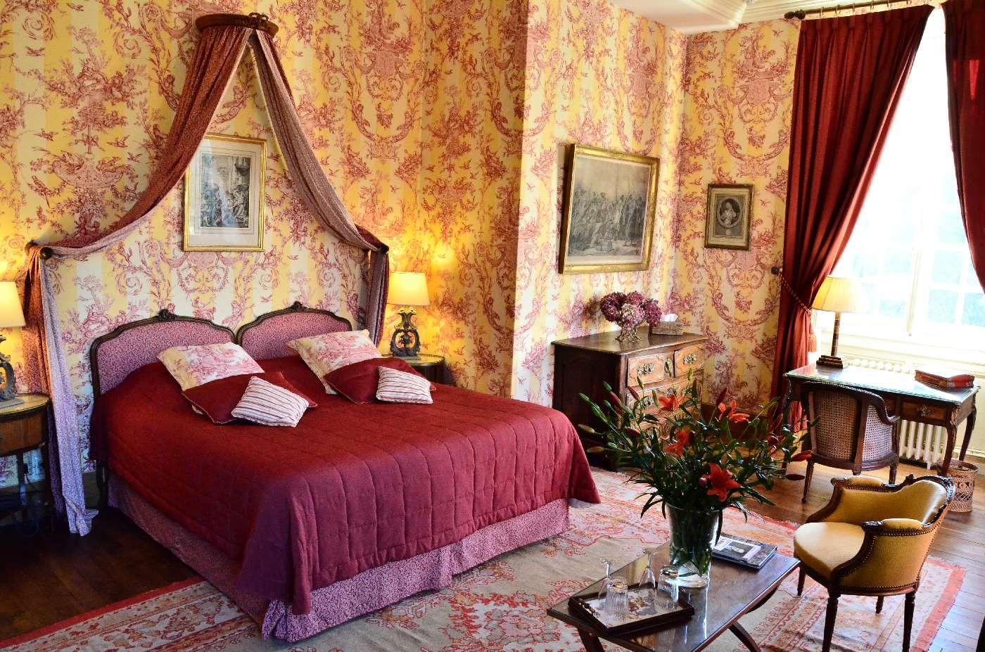 La Bedoyere, chambre de charme luxueuse au Château de Bourron Marlotte