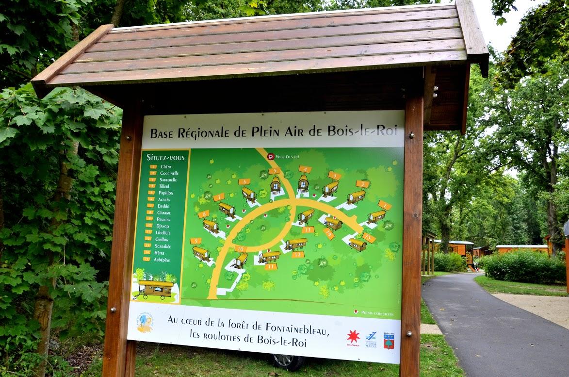 Plan du site des roulottes de Blois-le-Roi